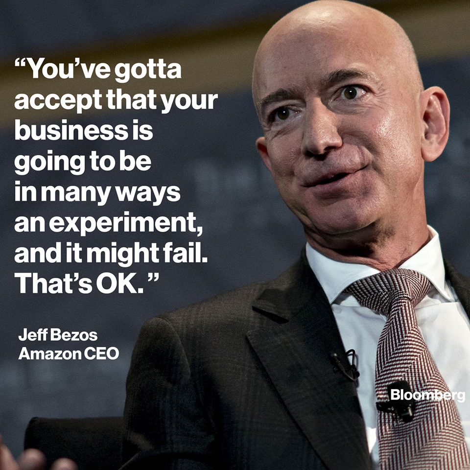 Bezos says: Get comfortable with getting things wrong